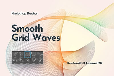 Grid Waves Brush