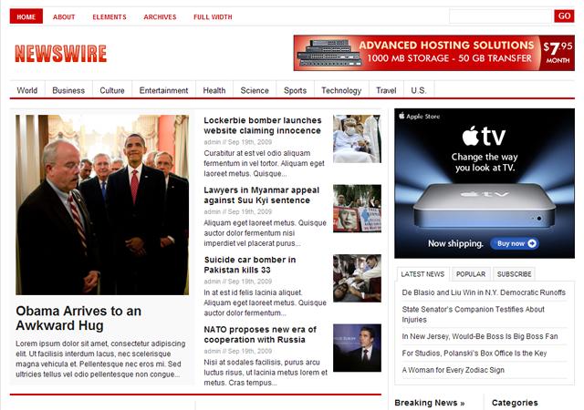 wordpress cms主题Newswire