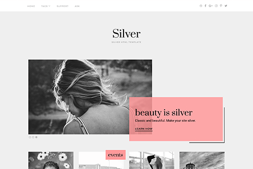 Silver HTML Template