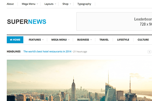 SuperNews HTML Template