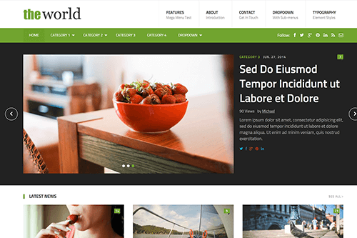 TheWorld HTML Template