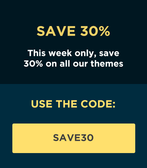 Save 30% this week only