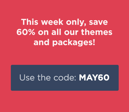 This week only, save 60% off everything!