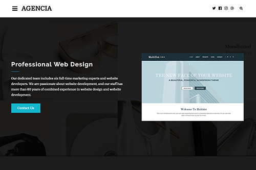 Agencia WordPress Theme Screenshot