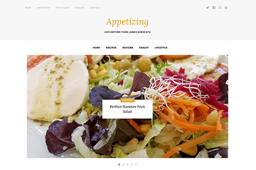 Appetizing WordPress Theme