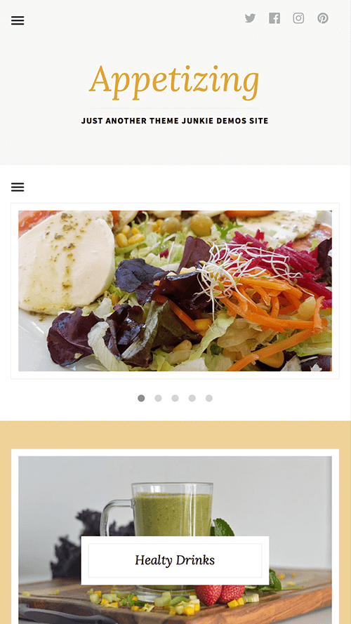 Appetizing WordPress Theme Mobile Screenshot