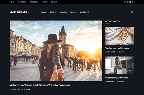 Autoplay WordPress Theme
