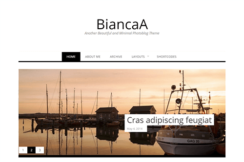BiancaA WordPress Theme