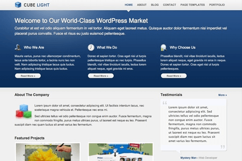 CubeLight WordPress Theme