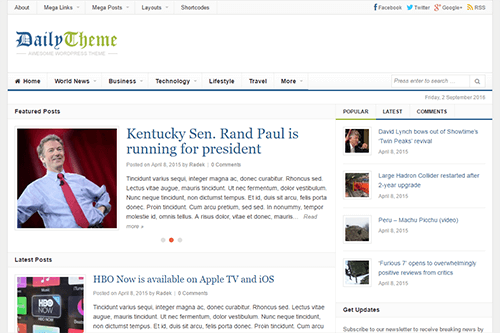 Daily WordPress Theme Screenshot
