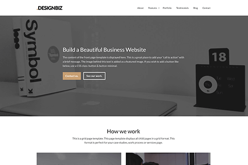 Designbiz WordPress Theme