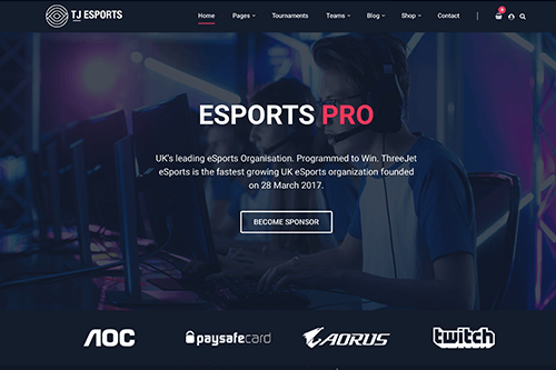 eSports Pro WordPress Theme