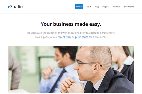 eStudio WordPress Theme Screenshot
