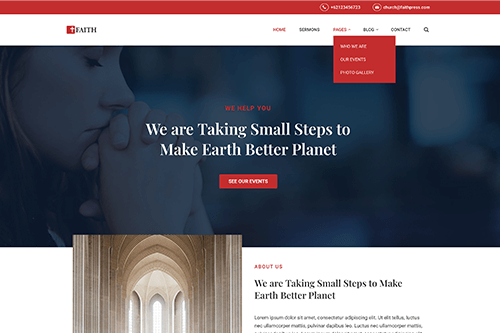 FaithPress WordPress Theme