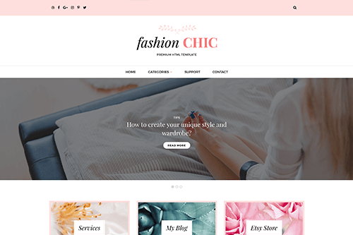 Fashion Chic WordPress Theme Screenshot