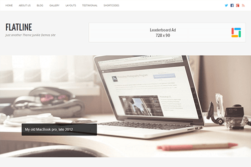 FlatLine WordPress Theme Screenshot