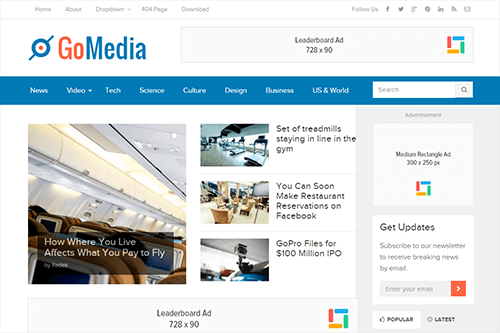 GoMedia WordPress Theme Screenshot