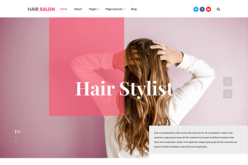 Free Salon WordPress Theme