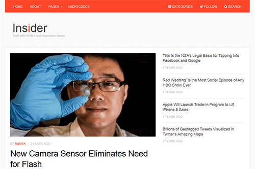 Insider WordPress Theme Screenshot