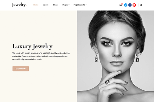Free Jewelry WordPress Theme