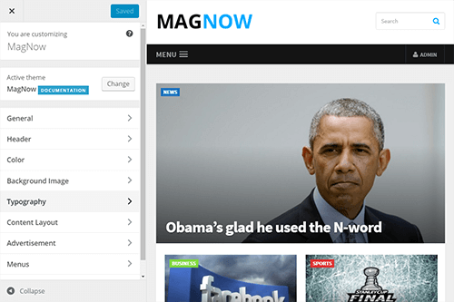 MagNow WordPress Theme Tablet Screenshot