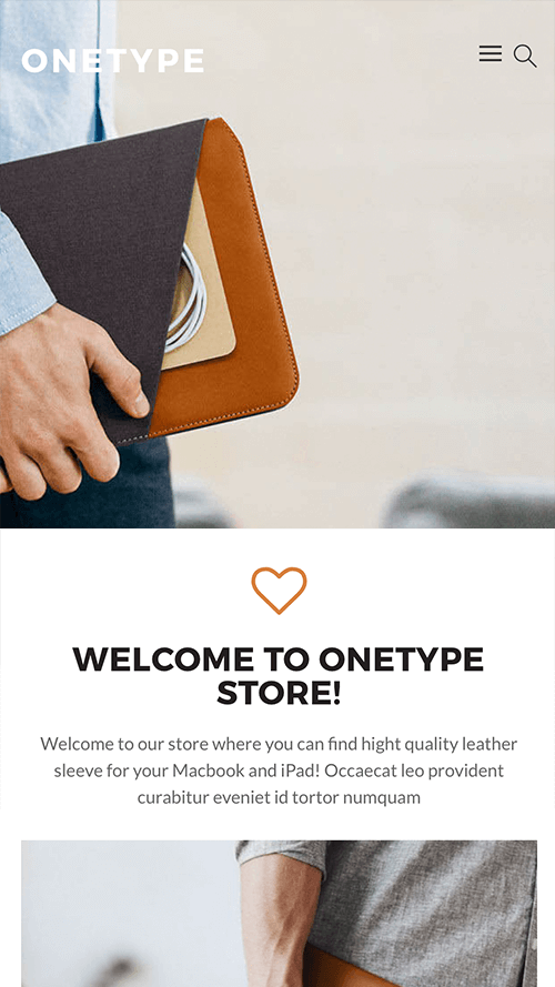 OneType WordPress Theme Mobile Screenshot