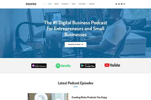PodPro WordPress Theme