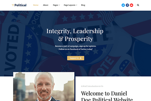 Free Political WordPress Theme