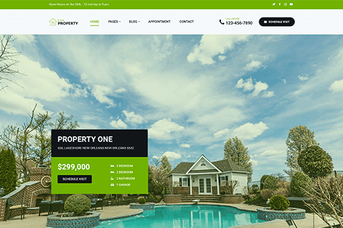 Property One WordPress Theme Screenshot