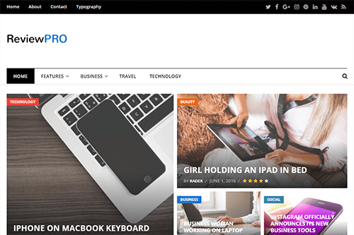 ReviewPro WordPress Theme Screenshot