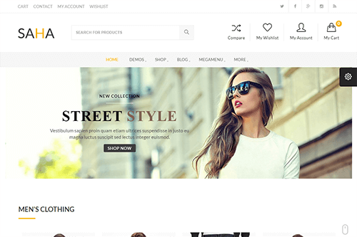 Saha WordPress Theme Screenshot