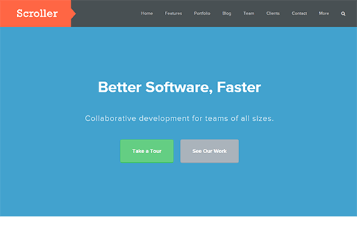 Scroller WordPress Theme Screenshot