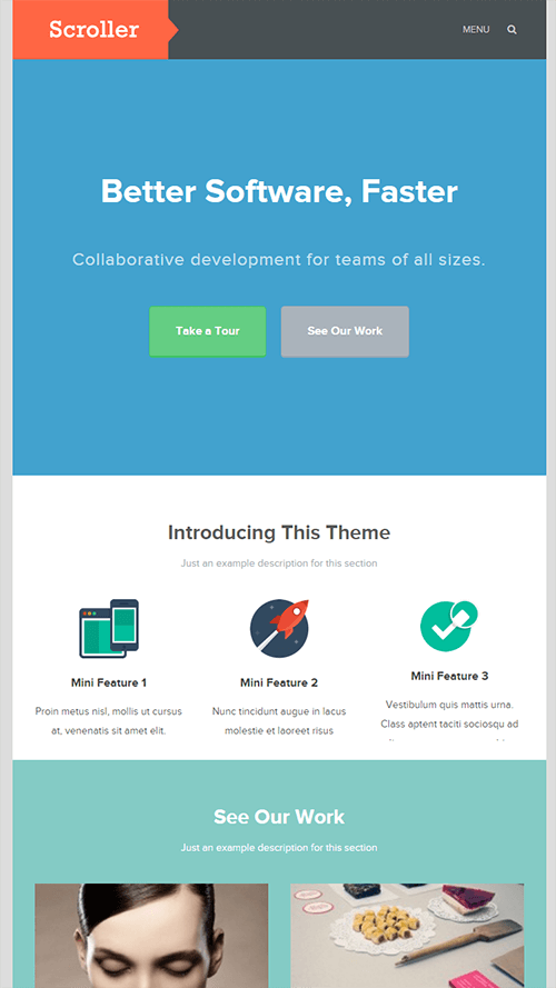 Scroller WordPress Theme Mobile Screenshot