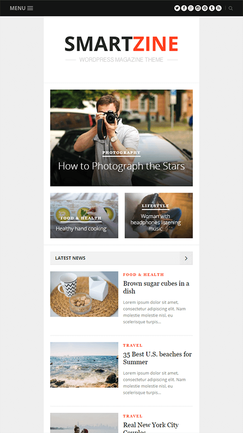 SmartZine WordPress Theme Mobile Screenshot