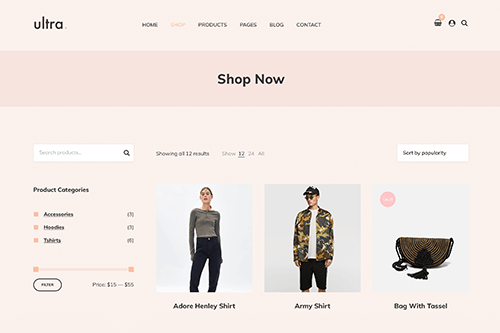 Ultrastore WordPress Theme