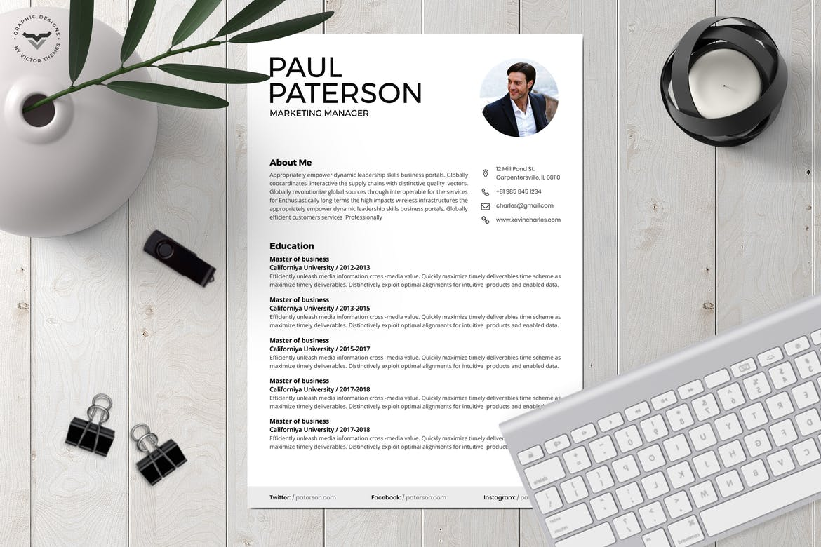 25 Best Cv Resume Templates 2020 Theme Junkie