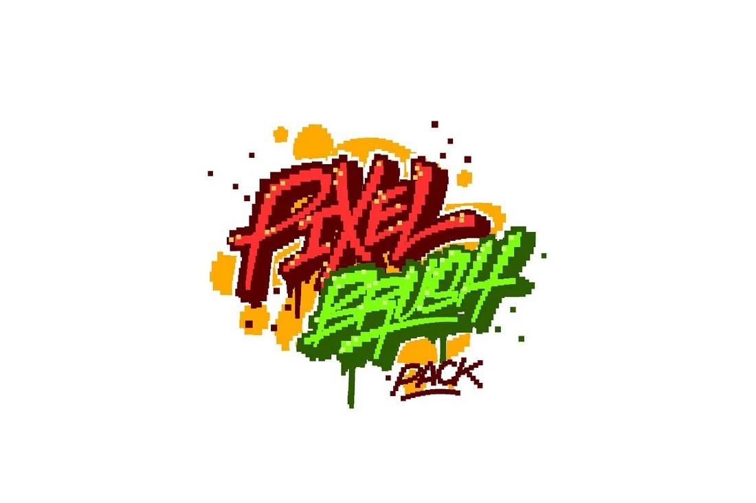 10 Pixel Brush Pack for Procreate