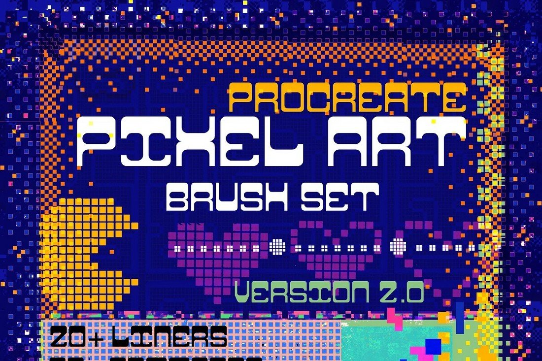 100+ Pixel Brushes for Procreate