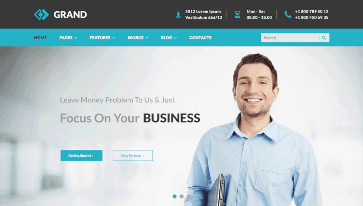 Grand - Business and Corporate WordPress Theme