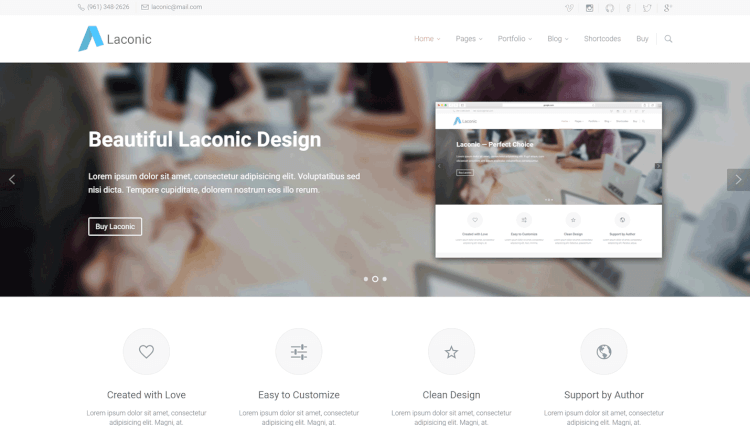 Laconic - Business and Corporate WordPress Theme