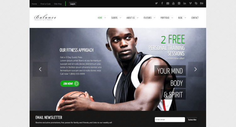 Balance - Gym WordPress Theme