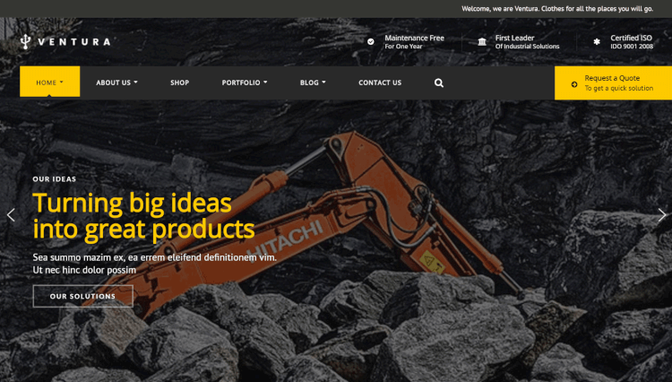 Ventura - Industrial Elementor WordPress Theme