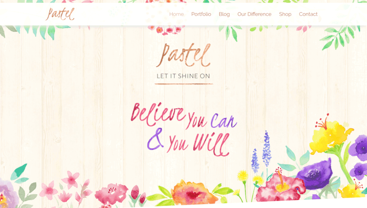 Pastel - Floral Art Elementor WordPress Theme