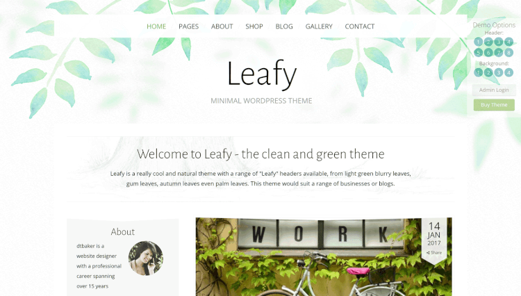 Leafy - Minimal Elementor WordPress Theme