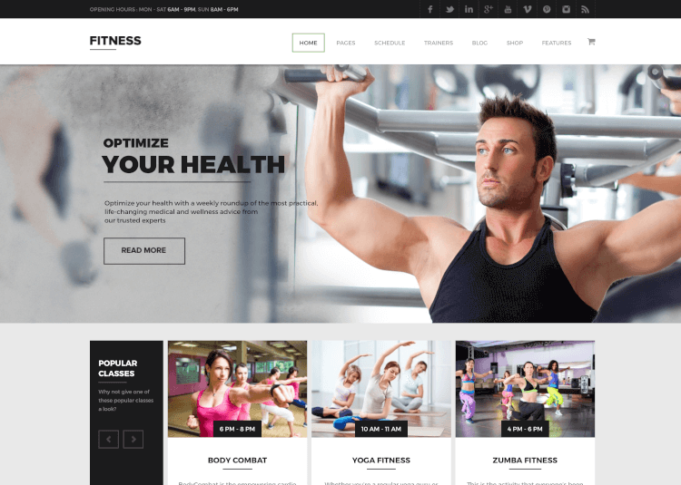 Fitness - Gym WordPress Theme