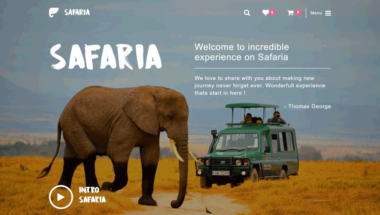 Safaria - Safari and Zoo Elementor WordPress Theme