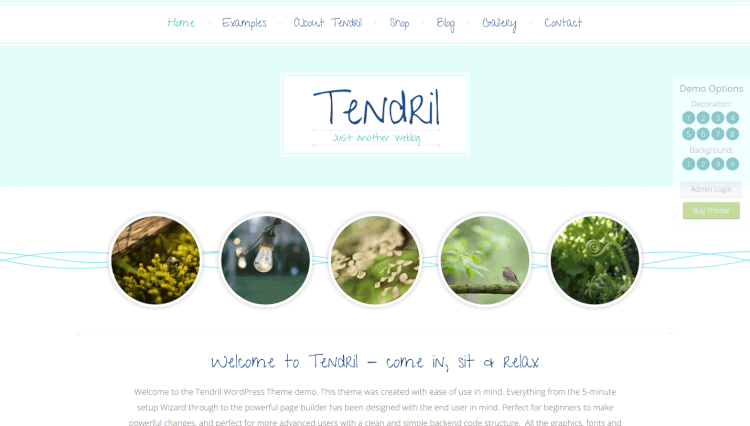 Tendril - Blog and Shop Elementor WordPress Theme
