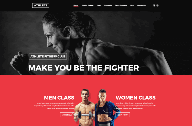 Athlete - Fitness & Sport WordPress Theme