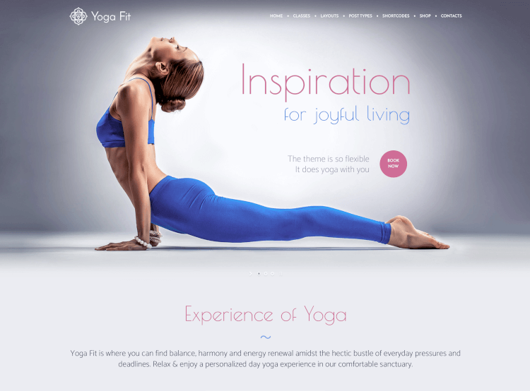 Yoga Fit - Sport, Fitness & Gym WordPress Theme