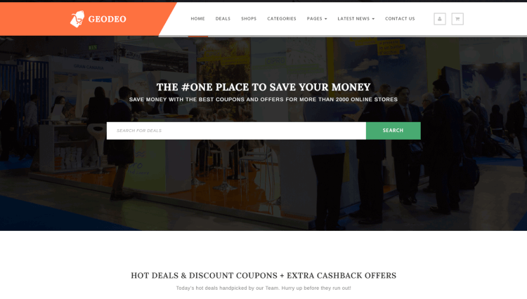 Geodeo - Deals and Coupon Site WordPress Theme